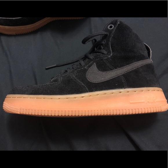 'black Air Force Suedeamp; 1 Gum' Women's Nike Hi QCoWrdxBe